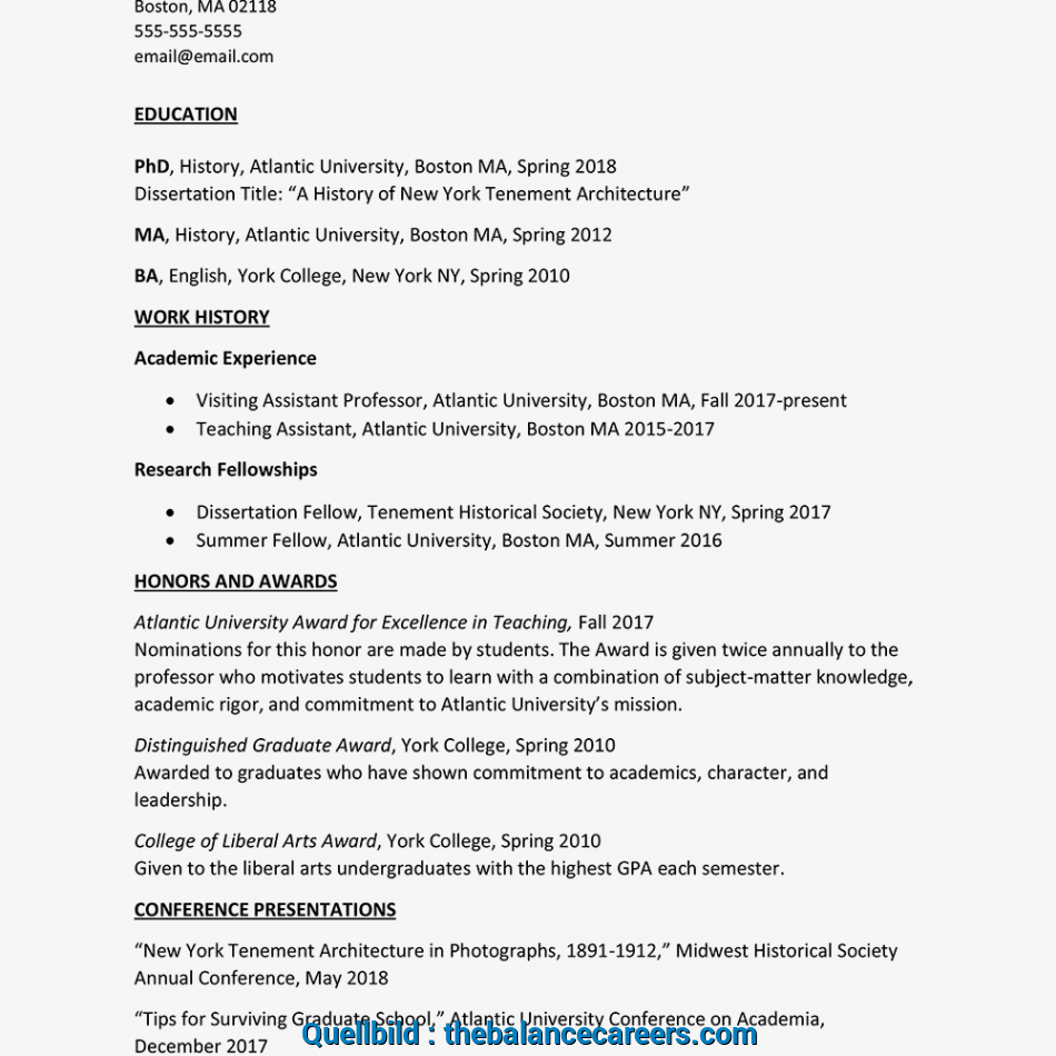 Wertvoll Sample Curriculum Vitae (Text Version)