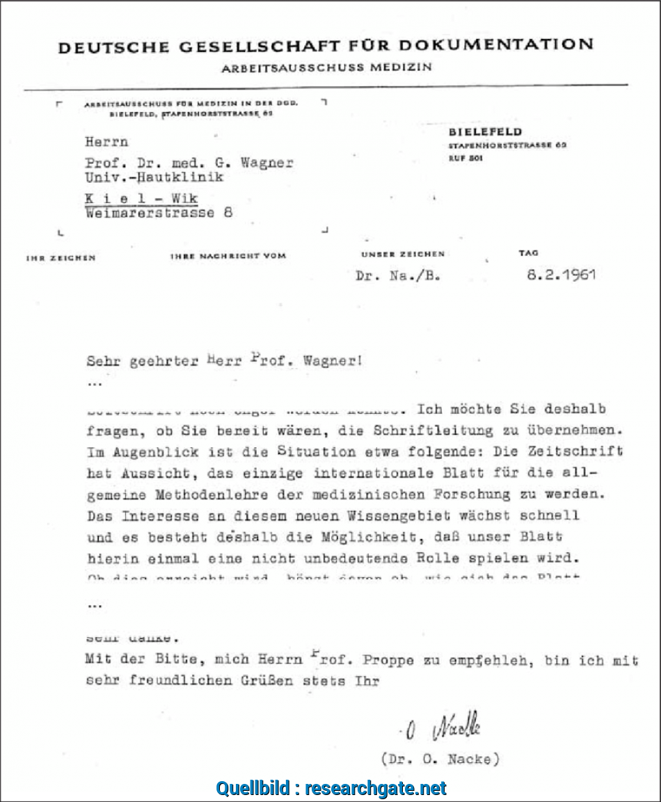 Qualifiziert Letter (Excerpt) From Otto Nacke To Gustav Wagner From February 8, 1961 [
