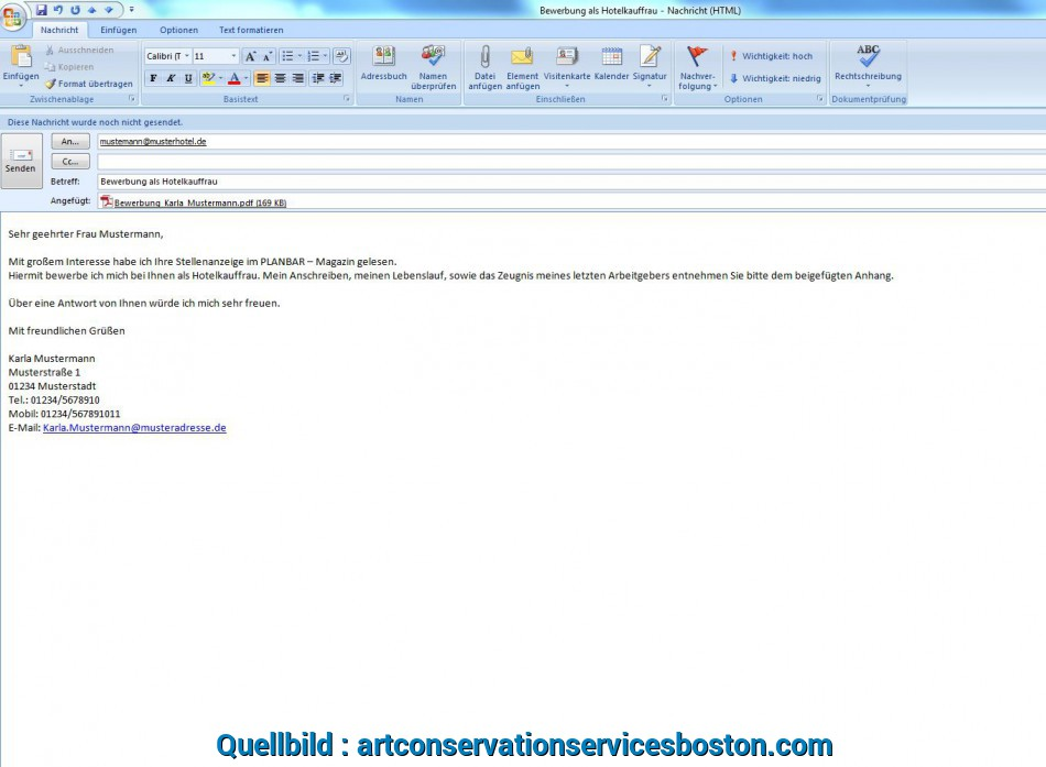 Liebling 11+ E Mail Bewerbung Anhang, Artcon Servation Services Boston