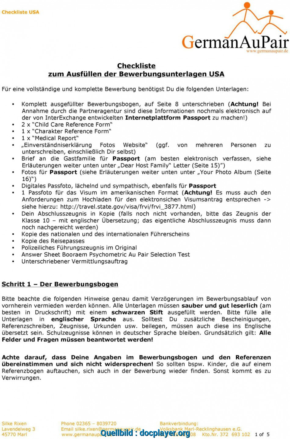 Wertvoll 2 X Child Care Reference Form, Charakter Reference Form, Medical Report
