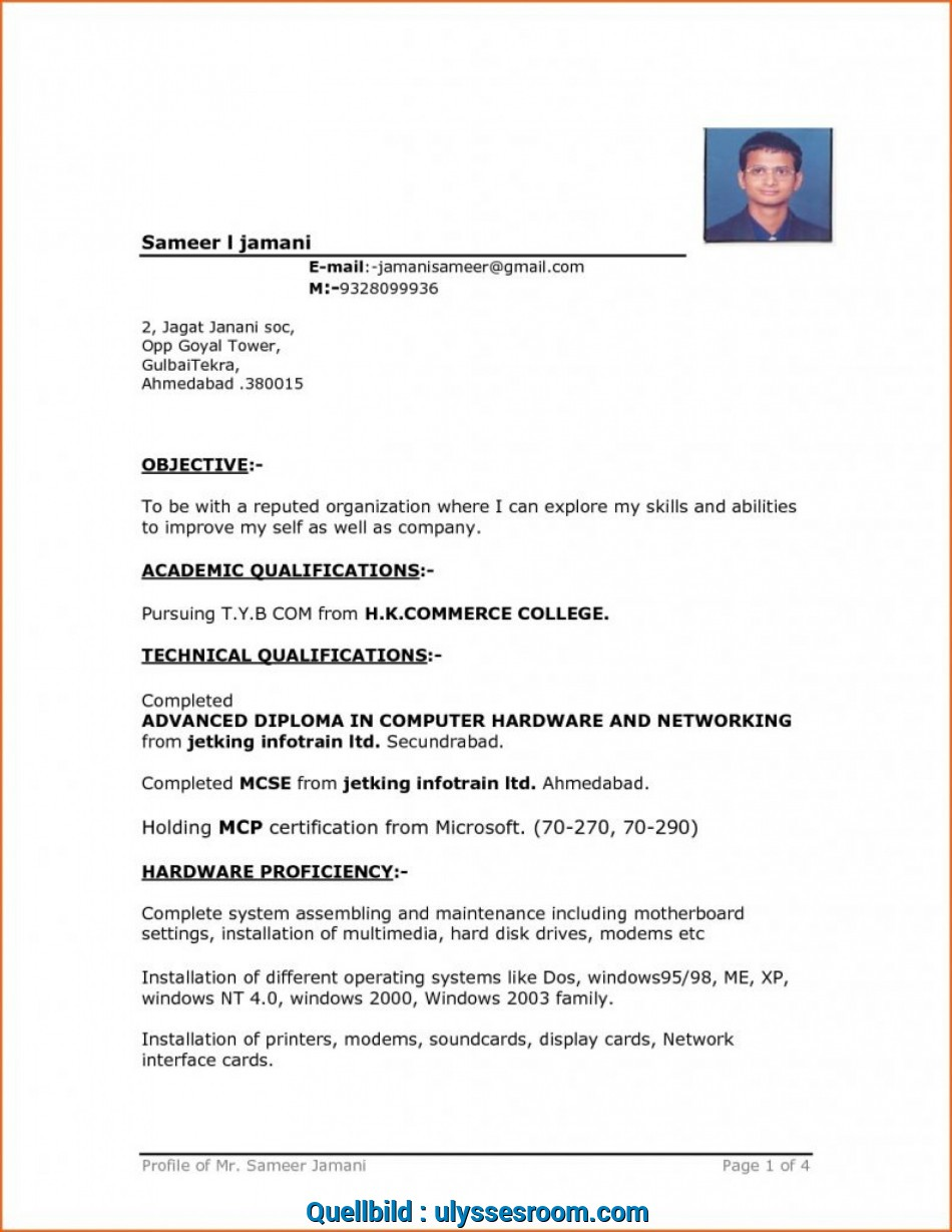 Akzeptabel ..., Download Resume Template Word Simple Format ...