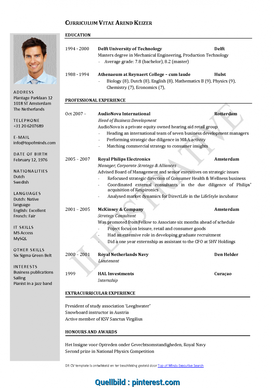 Akzeptabel Free Curriculum Vitae Template Word Download Cv Template When English Cv, To Write Cv In English