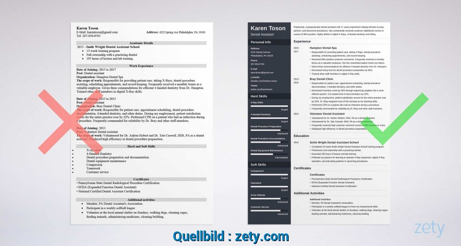 Praktisch One-Page Resume Templates: 15 Examples To Download ...