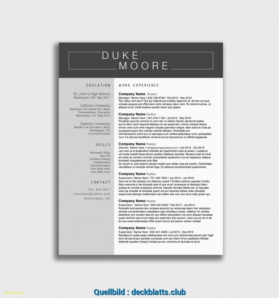 Original Indesign Lebenslauf Vorlage Luxus Resume Template
