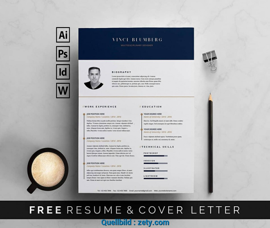 Detail Free Resume Templates, Word: 15 CV/Resume Formats To Download ...
