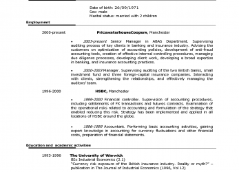 Briliant Good Format Of Cv American Curriculum Good Resume Examples Phwcnp