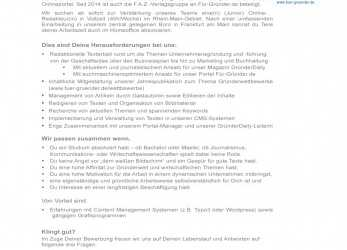 Briliant Junior) Online-Redakteur/In, Aktuelle Jobs, Jobs, Newsroom.De