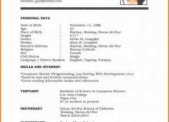Frisch Good English Cv Examples.Best -Of-Resume-For-Students-Sample-Resume-Sample-Canada-Format-Regarding.Jpg[/Caption]
