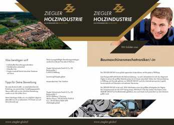 Detail Mechaniker/-In Baumaschinentechnik, ZIEGLER GROUP