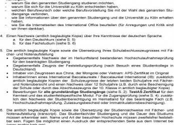 Detail Uni Koln Bewerbung Informationen, International Office, Pdf