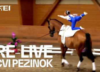 Neueste RE-LIVE,, Pezinok 2018 -, 1, Morning Session, Int. Vaulting Competition