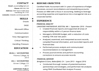 Komplett Accountant Resume Sample, Tips, Resume Genius