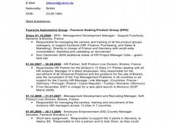 Ausgezeichnet Curriculum Vitae English Version 2009