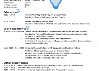 Neueste Finland CV Sample, CareerProfessor.Works