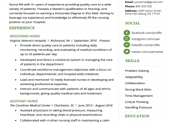 Neueste Nursing Resume Sample & Writing Guide, Resume Genius
