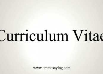 Briliant How To Pronounce Curriculum Vitae