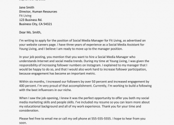 Original Free Cover Letter Examples, Writing Tips