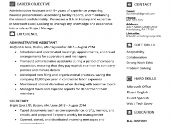 Prime Administrative Assistant Resume Example & Writing Tips, Resume Genius