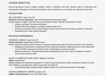 Neueste College Graduate Resume Example, Writing Tips