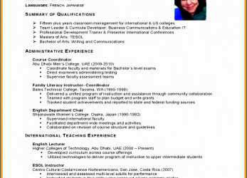 Original Resume Template English, 18 Cv English Student, Theomega.Ca