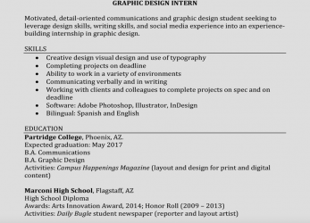 Erweitert How To Write A Perfect Internship Resume (Examples Included)