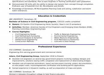 Trending Sample Resume, An Entry-Level Civil Engineer, Monster.Com