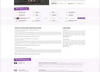 Perfekt 41+ HTML5 Resume Templates, Free Samples, Examples Format