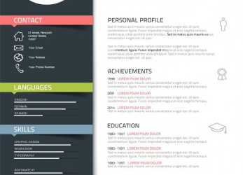 Frisch Graphic Designer, Description Personal Profile, Desks, Resume