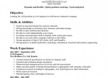 Komplett Cv Sample, Civil Engineering Student, Civil Engineer CV