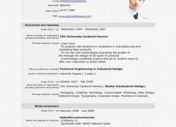 Erweitert Cv Resume, Download Free Download Cv Europass, Europass Home European Cv Format Pdf