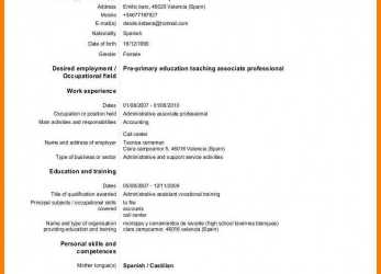 Beste European Curriculum Vitae.Europass-Cv-English-Template -Format-Doc-Version.Jpg