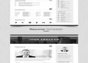 Wertvoll Material Resume Template, Diseño Gráfico, Pinterest, Template