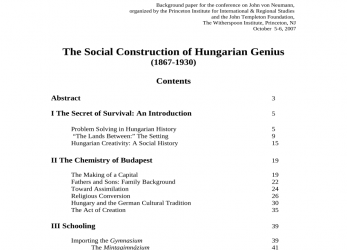 Neueste (PDF), Social Construction Of Hungarian Genius