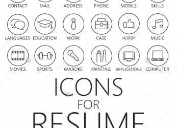 Liebling Thin Line Icons Pack, CV, Resume, Job, Icons, Pinterest