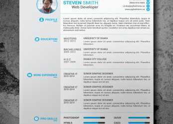 Komplett 25 Beautiful Free Resume Templates 2019, DoveThemes