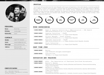 Erweitert Resume Cv Template Graphics Blackandwhite Bw Icons Icongraphic Business Work, Interview Economist Design
