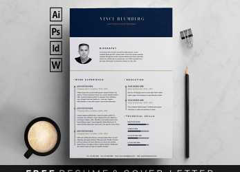 Detail Free Resume Templates, Word: 15 CV/Resume Formats To Download