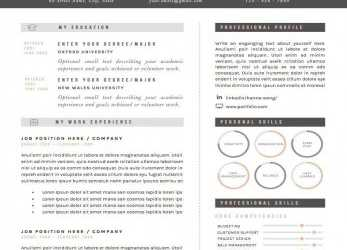 Komplex Resume Template / CV Template + Cover Letter & References, Word