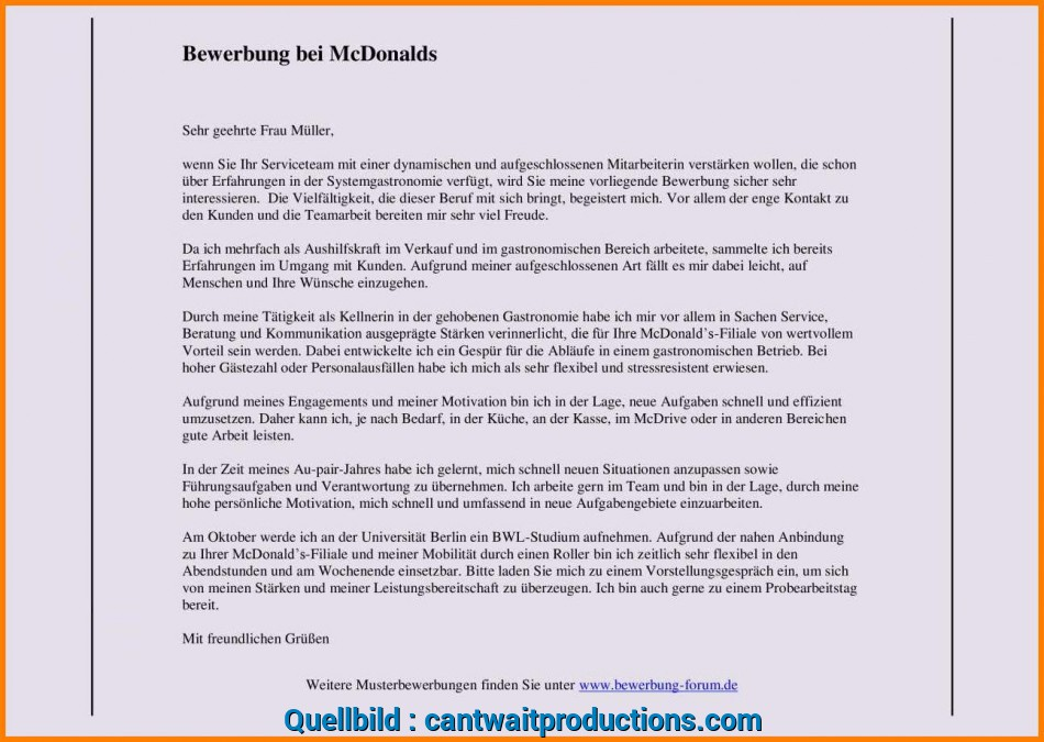 Gut 21+ Wg Bewerbung Muster, Cant Wait Productions