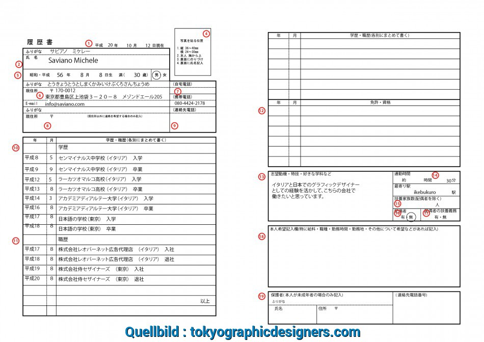Kostbar TGD, Made A Detailed Guide, You To Fill In, Rirekisho., The Attached Image As A Reference