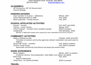 Kostbar Resume Examples, Sample Academic Resume Academics Scholarship Resume Template Honors Awards School Affiliated Activities Community Activity Work Experience