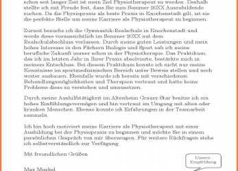 Trending 15+ Bewerbung Physiotherapeut, Rechnung Muster