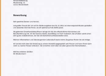 Briliant 69 Perfect Schriftliche Bewerbung, Any Positions