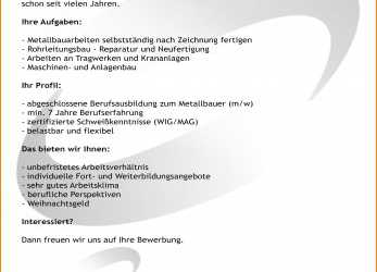 Gut 9+ Bewerbung Metallbauer, Cant Wait Productions