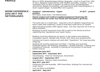 Ausgezeichnet Resume Examples By Real People: Logistics Assistant CV Example