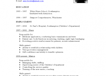 Experte What To Include In A CV ?