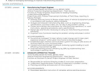 Trending Resume Examples By Real People: Project Engineer Cv Sample