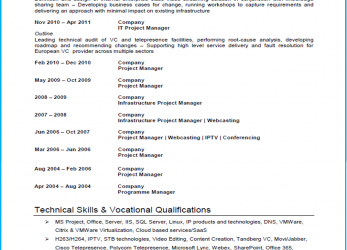 Erweitert Project Manager CV Example, Template, Writing Guide)