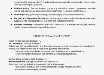 Komplett Resume Example With A, Skills Section