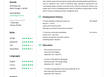 Prämie Online Resume Builder, Create A Perfect Resume In 5 Minutes!